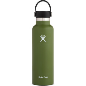 Hydro Flask Standard Mouth Drinkfles met standaard Flex Cap 621ml, olive
